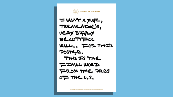 Write your own notes in Trump's handwriting with this new web generator | DeviceDaily.com
