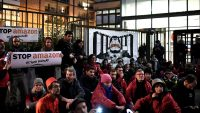 Black Friday protests: Climate change activists block access to Amazon distribution center