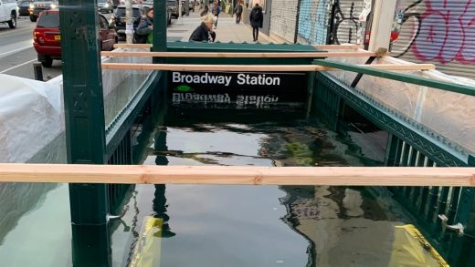 New York is flooding its subway stations to better prepare for climate change
