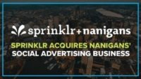 Sprinklr acquires Nanigans social ad business, now managing more than $1.5 billion in ad spend