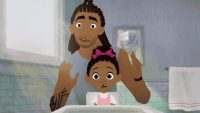 Watch NFL alum Matthew Cherry's sweet animated short about a black father doing his daughter's hair