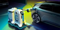 VW's prototype charging robot can find your EV in the parking garage