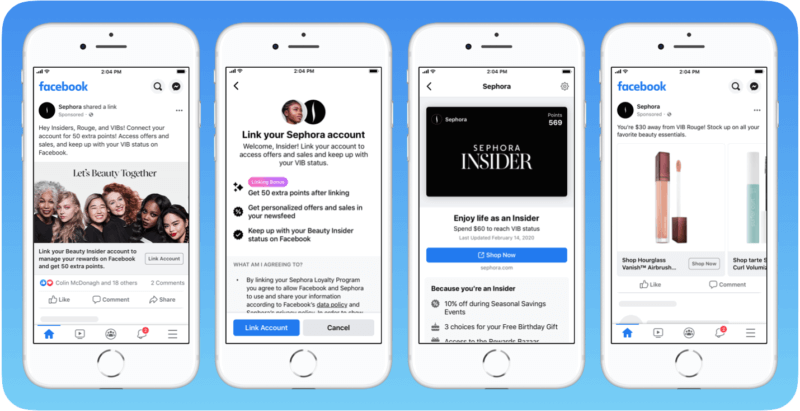 Facebook tests program that lets users link brand loyalty accounts to earn, see rewards in the app | DeviceDaily.com