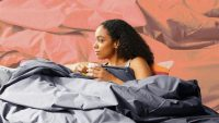 Feeling anxious? This new weighted comforter from Brooklinen might chill you out