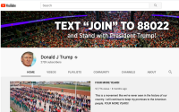 President's Reelection Campaign Acquires Exclusive YouTube Takeover