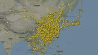 Watch flight traffic literally disappear from the skies as the coronavirus hits travel demand
