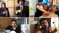 A quarantined couple uses household items to create iconic movie moments