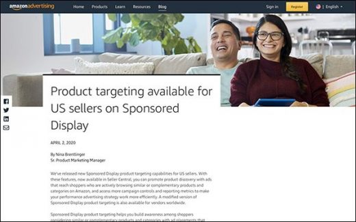 Amazon Product Targeting in Sponsored Display Rolls Out In U.S.