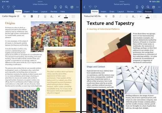 Microsoft Office for iPad tests multi-window support