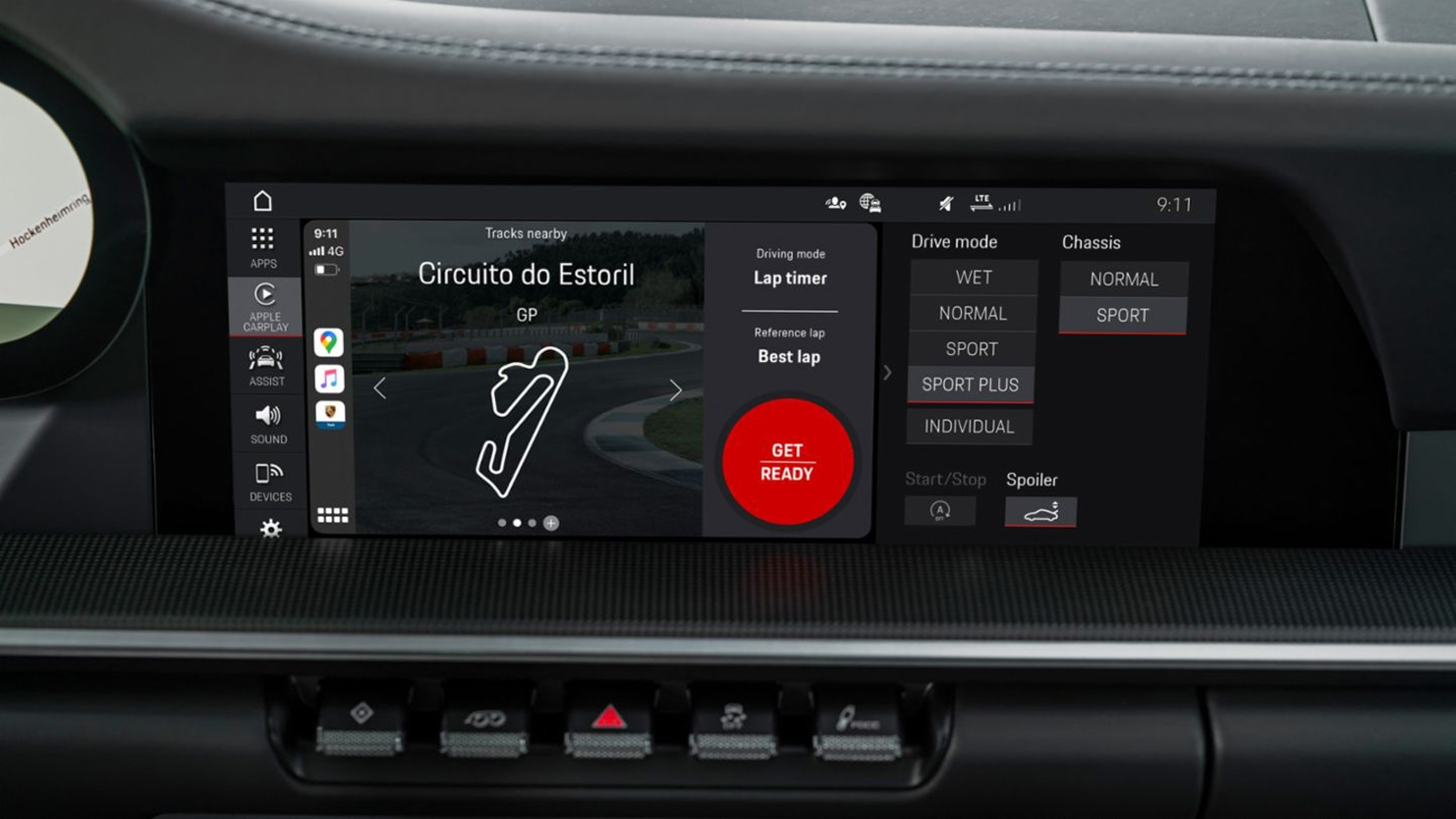 Porsche's track app uses CarPlay to show lap data while you drive | DeviceDaily.com