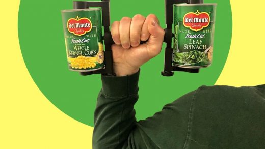 This quarantine cans-as-dumbbell device turns your food hoarding into gains
