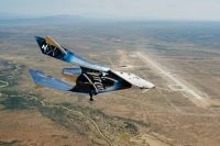 Virgin Galactic's spaceship flies from its new home base for the first time