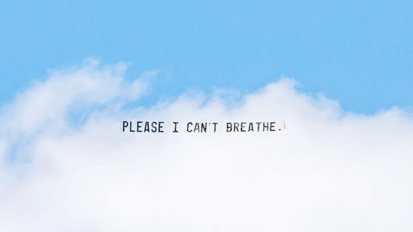 This art project flies George Floyd's last words across the sky | DeviceDaily.com
