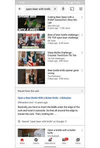 Google Search Results Found Serving Up In YouTube App
