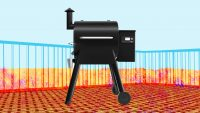 Smoke, roast, braise, BBQ, and even bake with this versatile, easy-to-use, high-tech grill