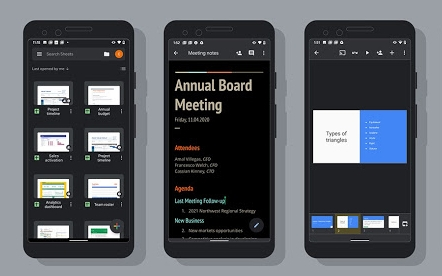 Google brings dark mode to Docs, Sheets and Slides on Android   DeviceDaily.com
