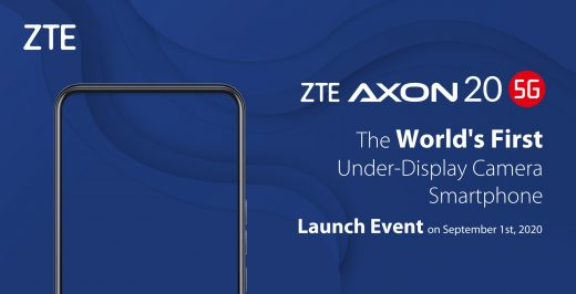ZTE's Axon 20 5G smartphone will have the first under-display camera