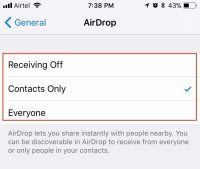 Where is AirDrop in iOS 11?