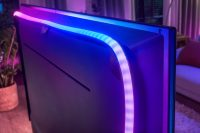 Each LED in the new Philips Hue lightstrip can match different colors on your TV