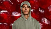 This hoodie is made from pomegranate peels and completely biodegrades