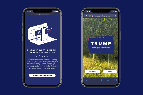 Sly phone filter replaces Trump slogan with facts about his disastrous presidency   DeviceDaily.com