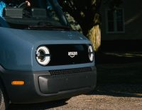 Amazon unveils its first custom, all-electric delivery van from Rivian