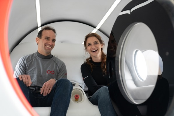 Passengers hopped aboard a Virgin Hyperloop for the first test run with humans | DeviceDaily.com