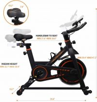 UREVO Indoor Stationary Bike: A Comfortable Ride and Challenging Workout