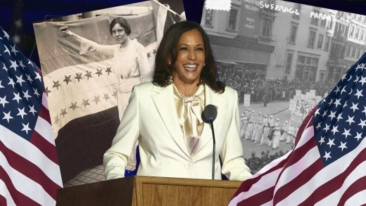 Kamala Harris's white suit was a nod to the suffragists before her—but that's only part of the story