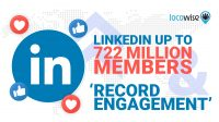 LinkedIn Members Up to 722 Million and 'Record Engagement'