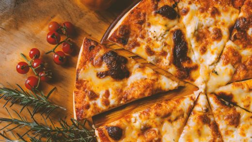 No, this pizza is not healthier because it's pretty. That's your beauty bias showing
