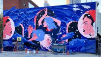 This stunning high-tech mural uses AR to celebrate badass women in science