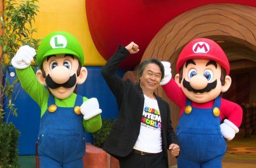 Shigeru Miyamoto gives a tour of the Super Nintendo World theme park