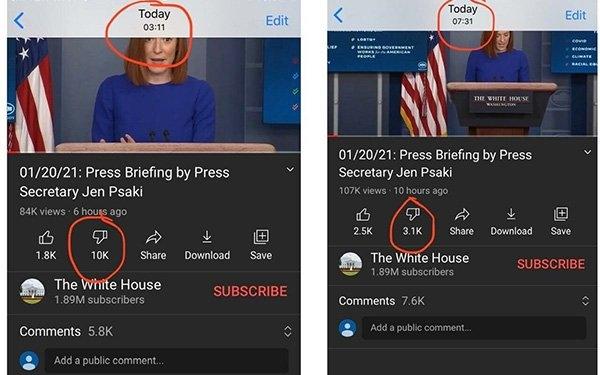 Former Google Software Engineer Claims YouTube Erasing 'Dislikes' For Biden Video   DeviceDaily.com
