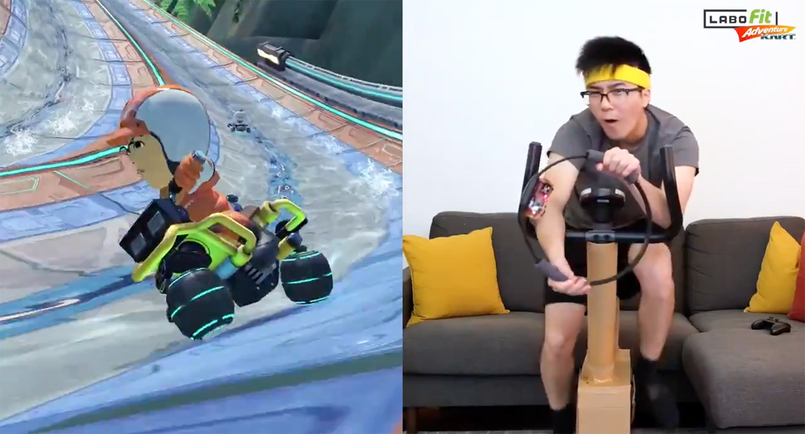 Homebrew Labo kit gives you a full-body 'Mario Kart' workout | DeviceDaily.com