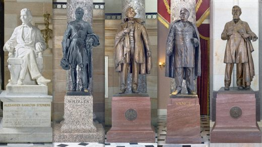 The U.S. Capitol is a symbol of democracy. But it's full of Confederate statues