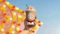 Starbucks hopes nostalgic tastes capture your summer dollars with the Strawberry Funnel Cake Frappuccino