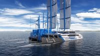 This boat powers itself with the ocean plastic it collects as it sails