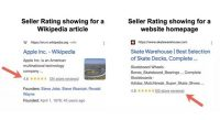 Google Tests Seller Ratings In Organic Search