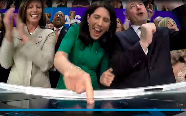 IAS CEO Rings Nasdaq Closing Bell On First Trading Day   DeviceDaily.com
