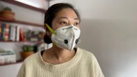 This new face mask tests you for COVID while protecting you from it