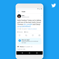 Twitter now lets you change who can reply to your tweets