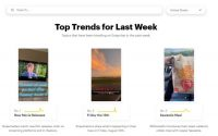 Snapchat Trends is an overview of the most popular keywords in use in Stories