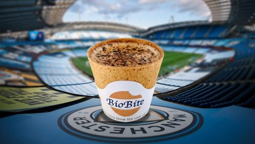 Soccer fans can now eat their coffee cups