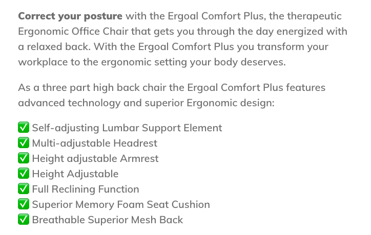 Ergoal Chair is the er, Goal of Everyone in the Office   DeviceDaily.com