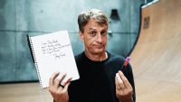 Liquid Death put Tony Hawk's actual blood in new branded skateboards