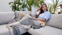 Mosquitos be gone! This outdoor blanket repels insects