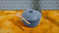 This multifunctional pot is a saucepan, stock pot, and Dutch oven–all rolled into one