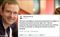 Facebook CTO Apologizes For Outage