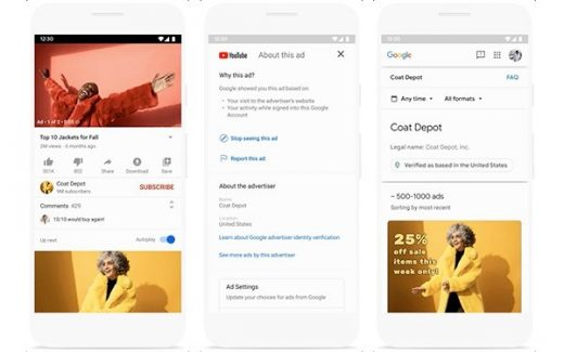 Google Increases Ad Transparency With Advertiser Pages